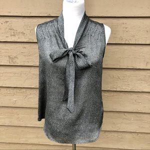 NY&Co stretch bow tie sleeveless top